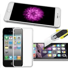 Tempered Glass Protector Edge to Edge Silver for Apple iPhone 6S/6