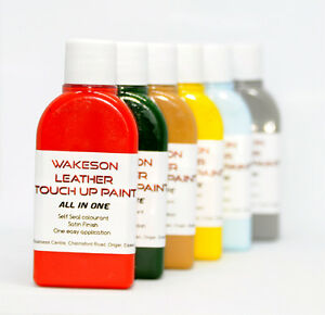 ALL IN ONE Leather Repair Paint Colour for dying, Restoring leather items KIT