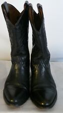 Woman's Western Boots size 24.5 JE-VER Black Lizard us size 7.5