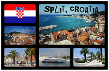 SPLIT, CROATIA - SOUVENIR NOVELTY FRIDGE MAGNET - FLAGS / SIGHTS - NEW - GIFT