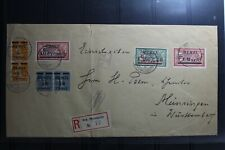 Memel auf Brief als Mischfrankatur als E-Brief (mit Knick) #BA890