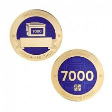 Milestone Geocoin and Tag Set - 7000 Finds Geocaching Official Trackable