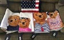 2018 Polo Bear Beach Towel Set Of 5 NWT