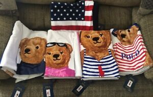 2018 Polo Bear Beach Towel Set Of 5 NWT
