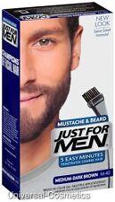 3x Just for Men Moustache Beard GEL Nat Med Dark Brown