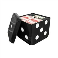 6 in 1 Games Cube Set Dominoes, Cards, Draughts, Chess, Poker Dice & Backgammon