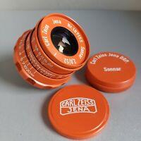 Lens SONNAR Carl Zeiss Jena DRP Sonnar 2.8/ 52mm Rangefinder M39 LEICA Orange