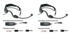 2pcs Headset Microphone With ON/OFF Switch and Power Box for Mixer PA System