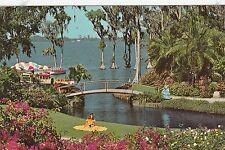 """*Florida Postcard-""""Cypress Garden's"""" /Roses & Bougainvillea/ (#155)"""