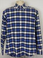 Gitman Bros Long Sleeve Button Down Shirt Vintage Blue White Check Mens Medium
