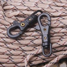 5X EDC Outdoor-Survival-Drehbare Hang Buckle Quickdraw Keychain Werkzeug
