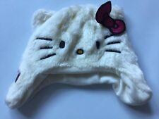 Hello Kitty Girls Fluffy Winter Hat Size 4-8 Years
