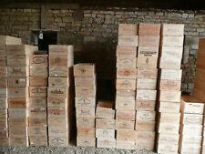 Wooden Wine Box Crate ~ 6 bottle. French, Genuine Storage Planter Hamper #