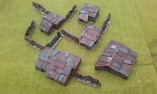 New! 5 x 15mm Shantys plus fencing   Wargaming Terrain AK47 District 9 Sci-fi