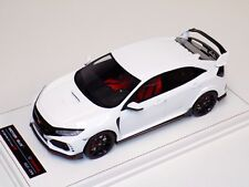 1/18 MotorHelix Honda Civic Type R LHD in Gloss White Leather base