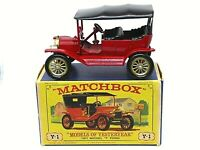 Matchbox Lesney Y1-2 1911 Ford Model 'T' In 'D3' 'NEW MODEL' Box (GIFTWARE BASE)