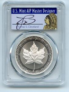 2019 $5 Silver Maple Leaf Modified Pride of 2 Nations PCGS PR70 Cleveland Native