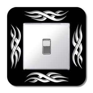 Tribal Single Light Plug Socket Switch Surround Finger Plate Panel Pattern