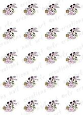 20 Nail Decals * DISNEY MICKEY MOUSE EASTER BUNNY* Water Slide Nail Art Decals