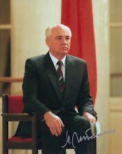More details for mikhail gorbachev hand signed 10x8 photo russian president autograph 1