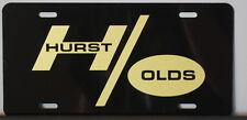 HURST OLDS METAL LICENSE PLATE OLDSMOBILE 442 CUTLASS HO 455 400