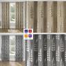 RITZ Metallic Print Thermal Blockout Ready Made Eyelet/Ring Top Curtains Pair