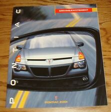 Original 2001 Pontiac Full Line Sales Brochure 01 Firebird Grand Prix Grand Am