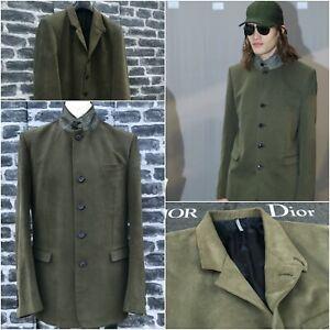 UltraRare & Great Dior Homme AW12 Micro Velvet Khaki Officer Green Blazer