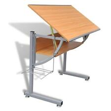 Home Work Office Drafting Tiltable Adjustable Angles Study Table Desk w/ Shelf