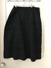 Design Studio Black Dress Skirt Petite Frill Detail Size 16
