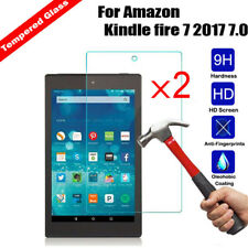 2x Genuine HD+ Tempered Glass Screen Protector For Amazon Kindle fire 7 2017 7.0