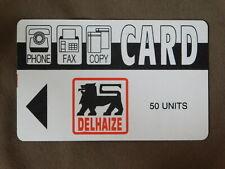 Magnetic Phone / Fax / Copy Card MINT Belgium - Delhaize 50 Units