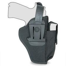 Vega TM2 Ambidextrous Universal Pistol Gun Duty Belt Holster w/ Mag Pouch Black