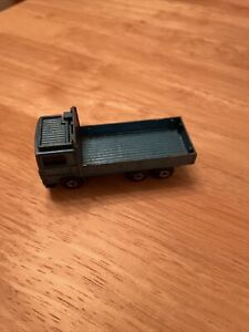 Matchbox Volvo Truck 1/80 Scale 1984 Blue Open Back Truck, Used Condition