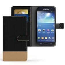 Tasche für Samsung Galaxy S4 Mini Jeans Cover Handy Schutz Hülle Case Schwarz