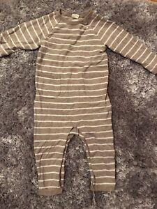 H&M Striped Romper 9-12 Months