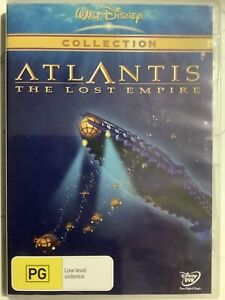 ATLANTIS : THE LOST EMPIRE - DVD Region 4 - Disney BRAND NEW SEALED