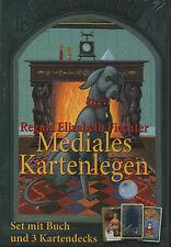 MEDIALES KARTENLEGEN - Regula E. Fiechter BUCH + KIPPER & LENORMAND KARTEN - NEU