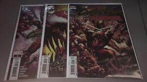 Absolute Carnage Vs. Deadpool #1 2 3 Complete Marvel 2019 Spider-man 1st Print