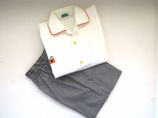 Vtg Boys Shorts Shirt Set by Health Tex Stantogs Size 6 Black White Check Shorts