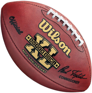 SUPER BOWL XL 40 Authentic Wilson NFL Game Football - PITTSBURGH STEELERS