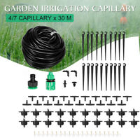 30m Automatic Drip Irrigation Garden Plant Watering System Set Hose DIY Kit