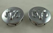 Dodge Motors Chrome Custom Wheel Center Caps Set of 2 # 63428K / 54-MM