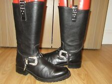 SENDRA Womens Black Leather Boots  UK 5 / EU 38 Great.
