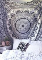 Lotus Mandala Indisch Überwurf Tagesdecke Wandbehang Yoga Deko Tuch 213X238cm