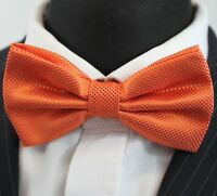 Bow Tie. Orange. Premium Quality. Pre-Tied. BT22
