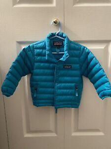 Toddlers Boys Girls Patagonia Puffer Coat Down Full Zip Blue 2T