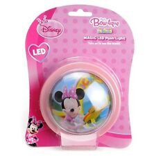 DISNEY Rosa Minnie Mouse LED Luce notturna a Batteria Spingere Luce Nuovo