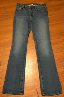 Women's Eddie Bauer Jeans Boot Cut Slightly Curvy Distressed Jeans Sz 12 Long