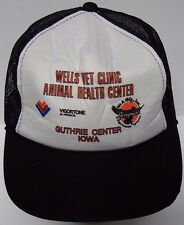 Vtg 1980 WELLS VET ANIMAL HEALTH VIGORTONE AG IOWA FARM SNAPBACK ADVERTISING HAT